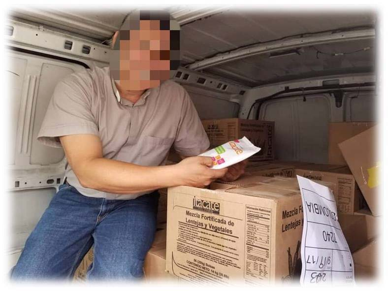 receiving food in venezuela